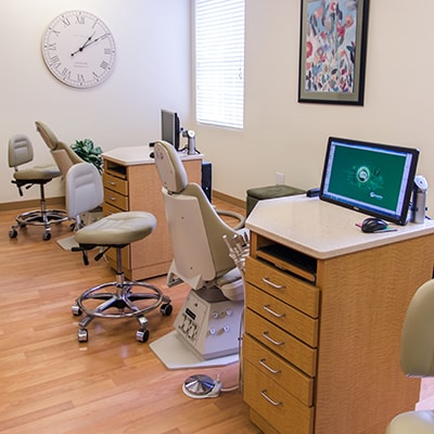 The operatory room at Chatham Orthodontics
