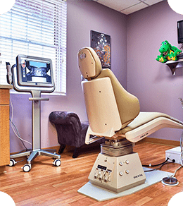A private room at Chatham Orthodontics to represent fast and fewer appointments