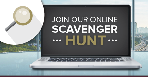 join our scavenger hunt online