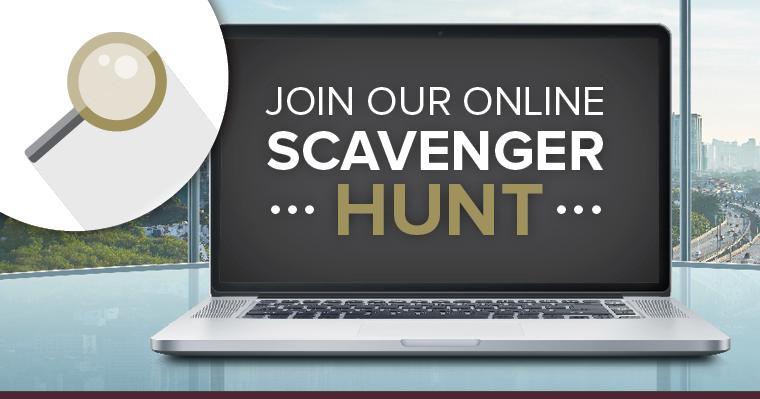 join our scavenger hunt online